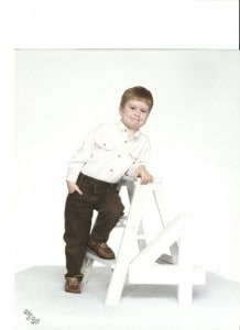 Mitch at age four. We always went in for the free 8 x 10 pics each year at Olin Mills. Never could afford the packages, but we always got the freebies.