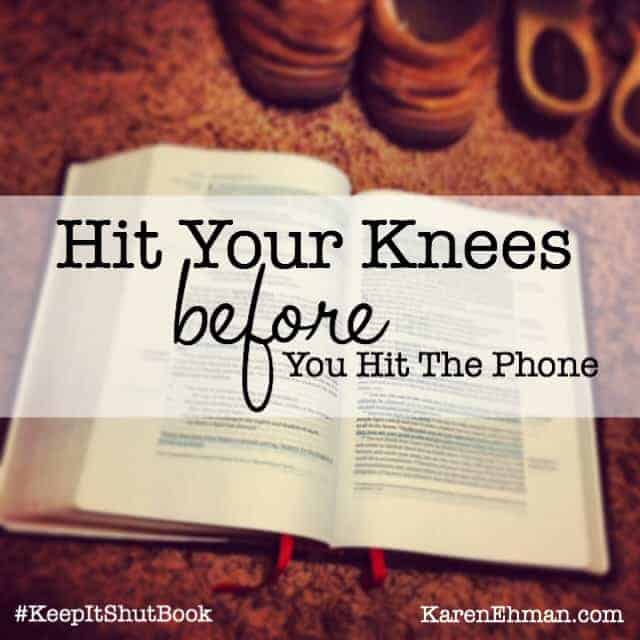Hit your knees