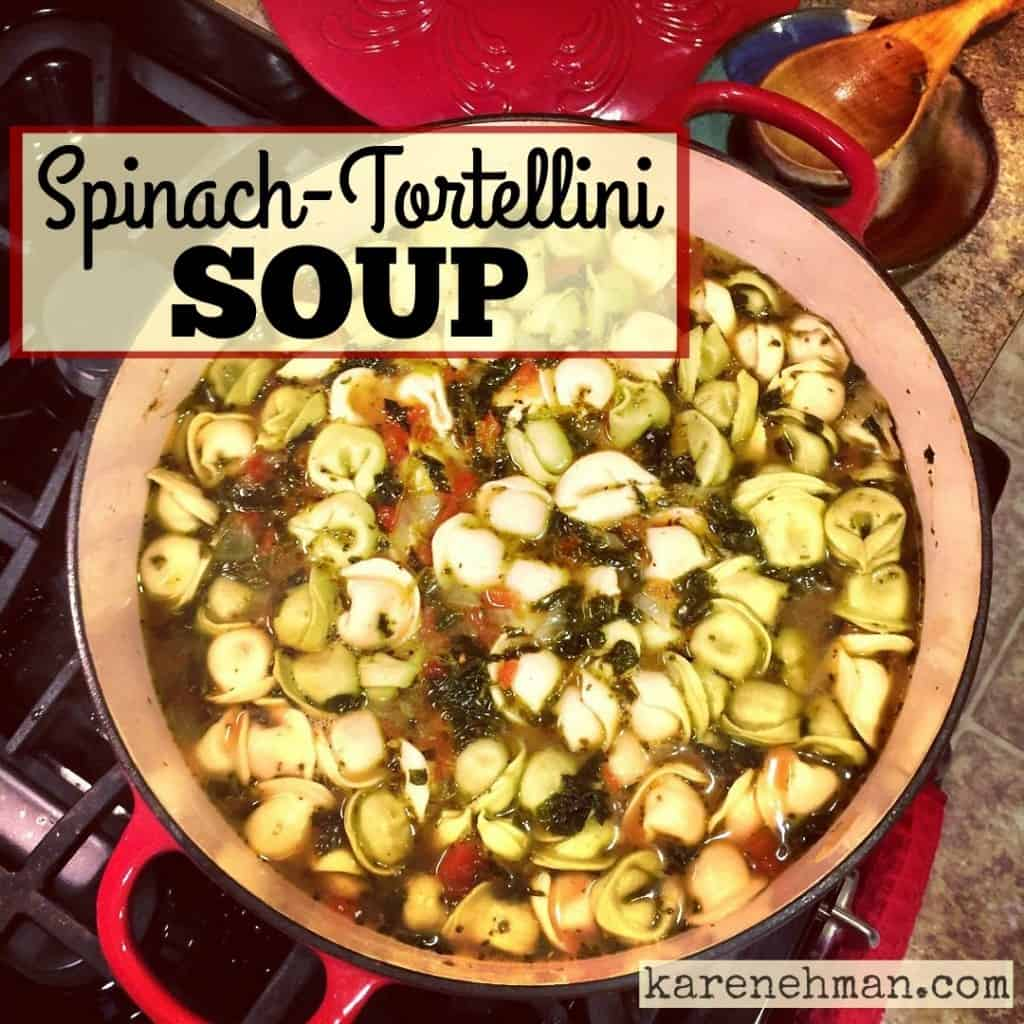 Need a unique fall dish? Try this easy recipe for Spinach-Tortellini soup from karenehman.com