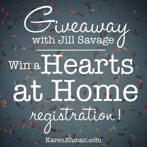 Giveaway at KarenEhman.com with Jill Savage