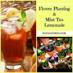 Need a refreshing cool drink to sip while you plant your flowers? Mint Tea Lemonade at karenehman.com