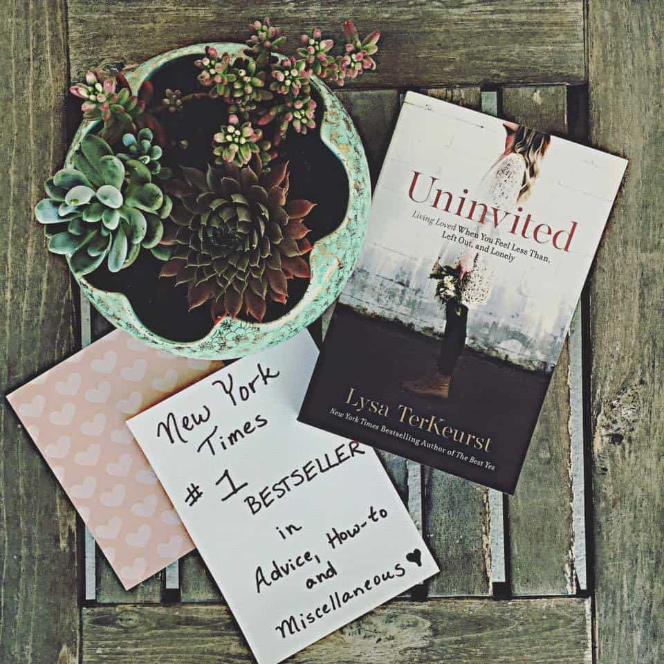 Giveaway of Uninvited by Lysa TerKeurst over at Karen Ehman's blog