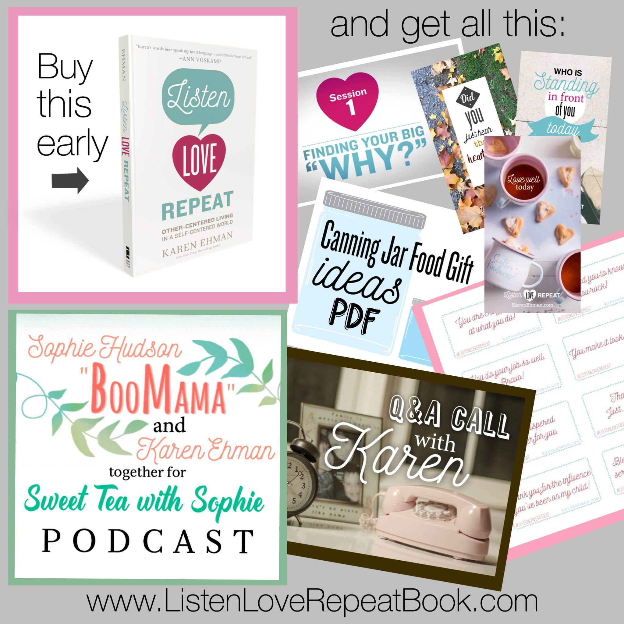 FREEBIE BUNDLE when you pre-order #ListenLoveRepeat by Karen Ehman!