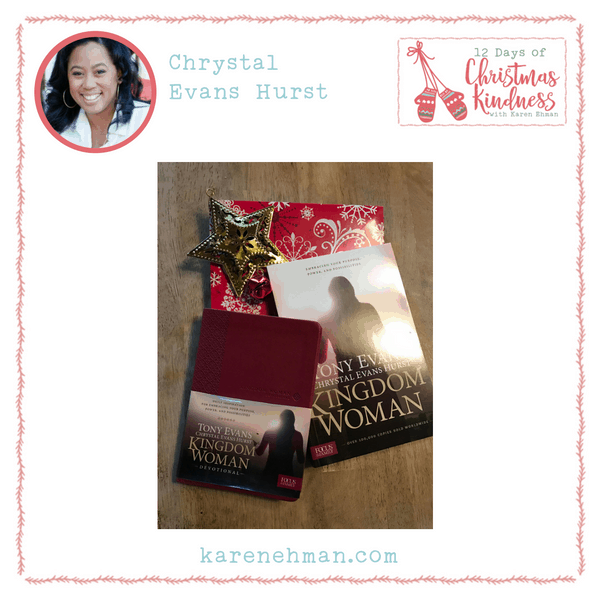 Join Chrystal Evans Hurst for a giveway during Karen Ehman's 12 Days of Christmas Kindness.