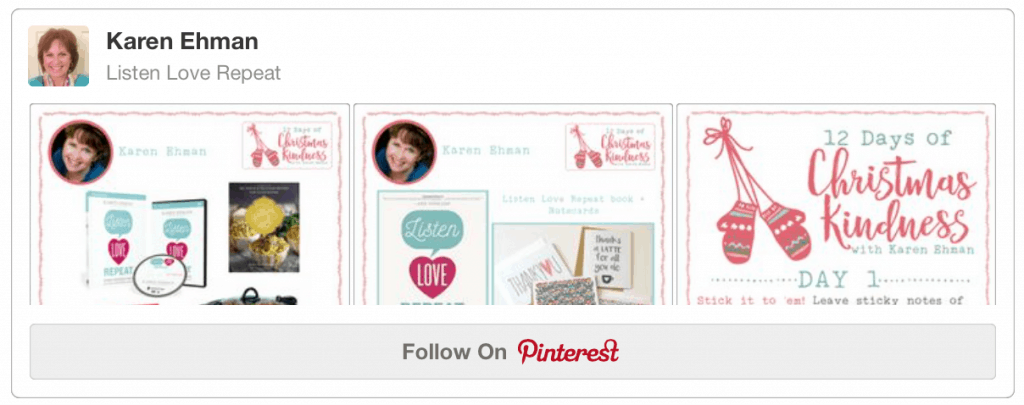 Follow Karen Ehman's 12 Days of Christmas Kindness inspired by her new book, Listen Love Repeat.
