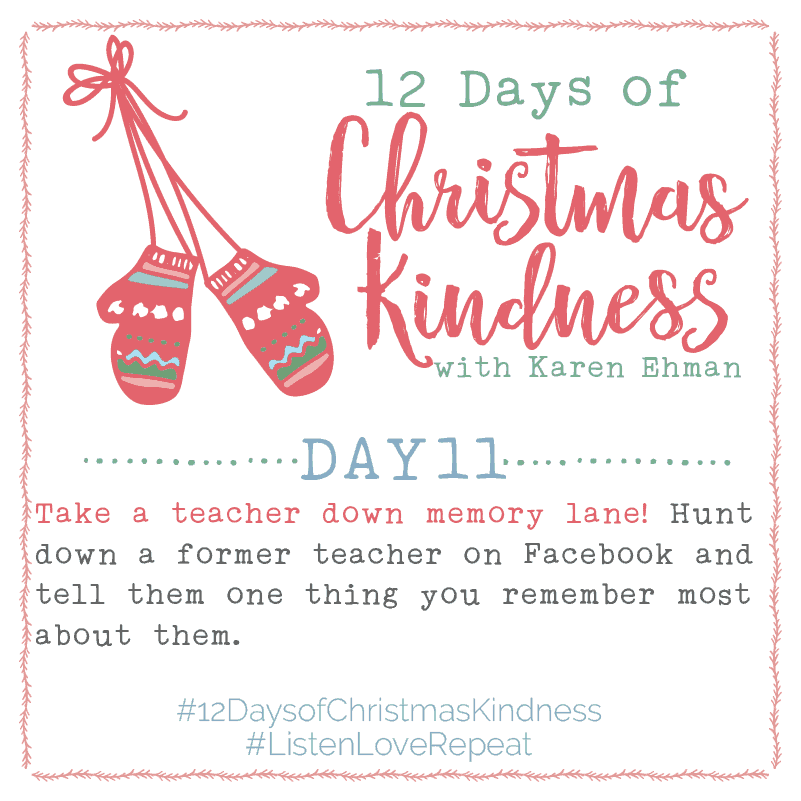12 Days of Christmas Kindness – Day Eleven