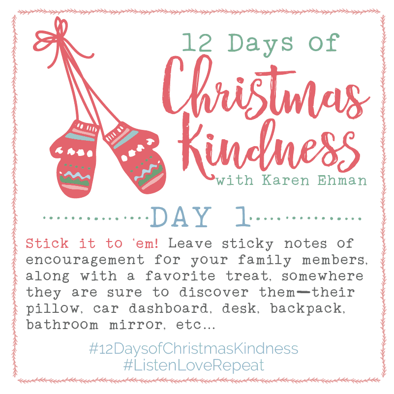 Twelve Days Of Christmas Notes.12 Days Of Christmas Kindness Day One Karen Ehman