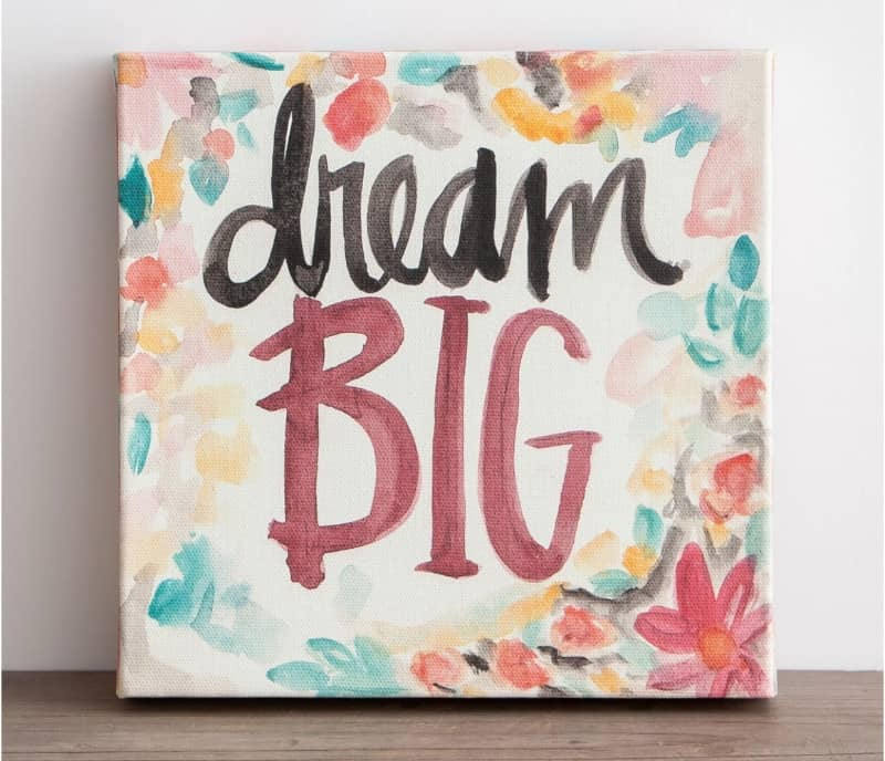 Dream Big Canvas at Dayspring by Sadie Robertson. 10 Gifts She'll Love at karenehman.com.