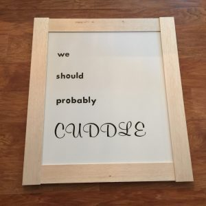 DIY Canvas Wall Sign by Katina Miller for Love Your Life Friday at karenehman.com.