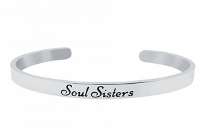 """SOUL SISTERS"" Cuff Bracelet for Best Friends; 12 Fabulous Gifts for Friends at karenehman.com."