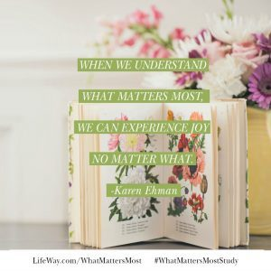 Come dive into the book of Philippians with #WhatMattersMoststudy, a new Bible study by Karen Ehman for LifeWay.