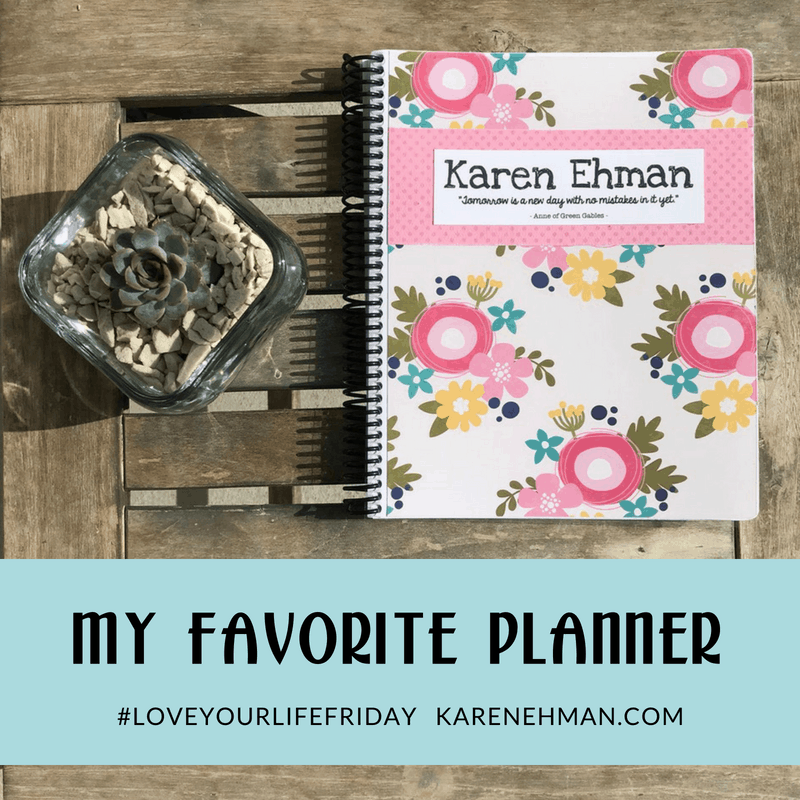 A look inside my favorite planner from Throne of Grace on Etsy for #loveyourlifefriday at karenehman.com.