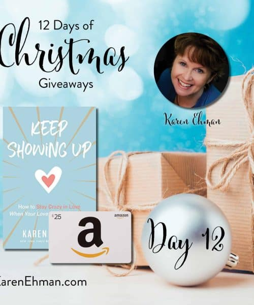 Day 12 of 12 Days of Christmas Giveaways at karenehman.com.