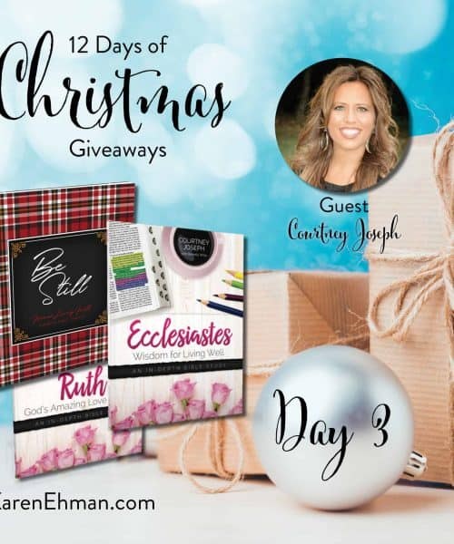 Enter to win Day 3 of 12 Days of Christmas Giveaways (2018) with Courtney Joseph at karenehman.com.