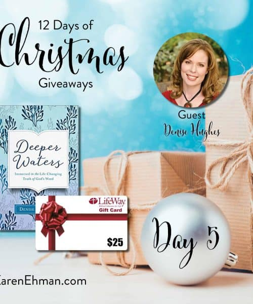 Enter to win Day 5 of 12 Days of Christmas Giveaways with Denise Hughes at karenehman.com.