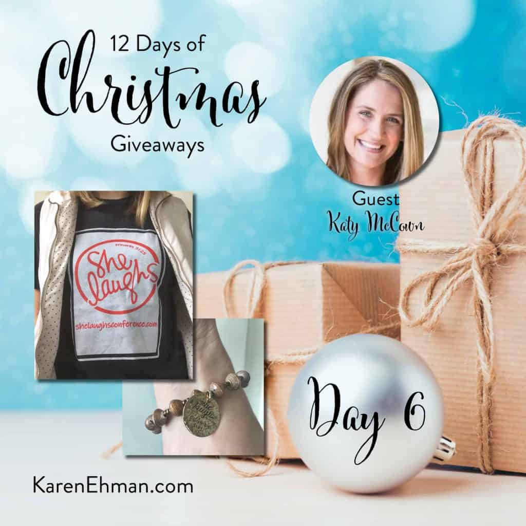 Enter to win Day 6 of 12 Days of Christmas Giveaways with Katy McCown at karenehman.com.