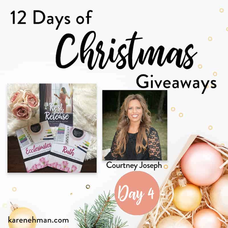 Courtney Joseph \\ Day 4 of 12 Days of Christmas Giveaways at karenehman.com.