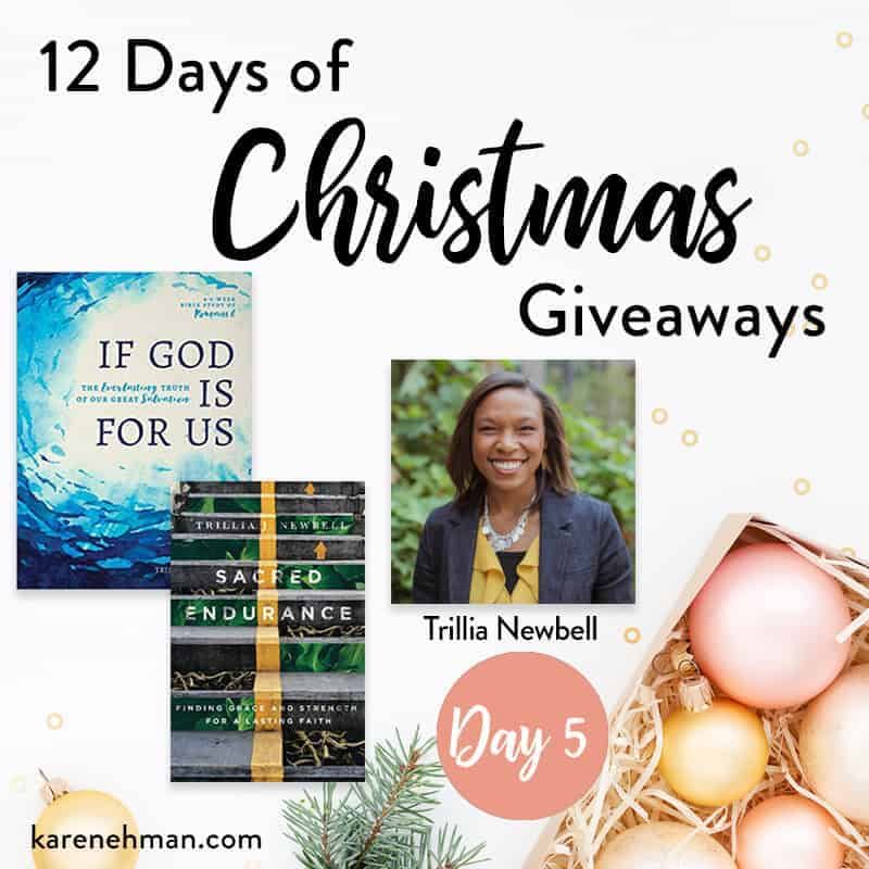Trillia Newbell \\ Day 5 of 12 Days of Christmas Giveaways at karenehman.com.