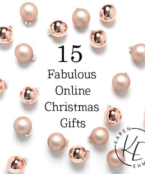 15 Fabulous Online Christmas Gifts at karenehman.com.