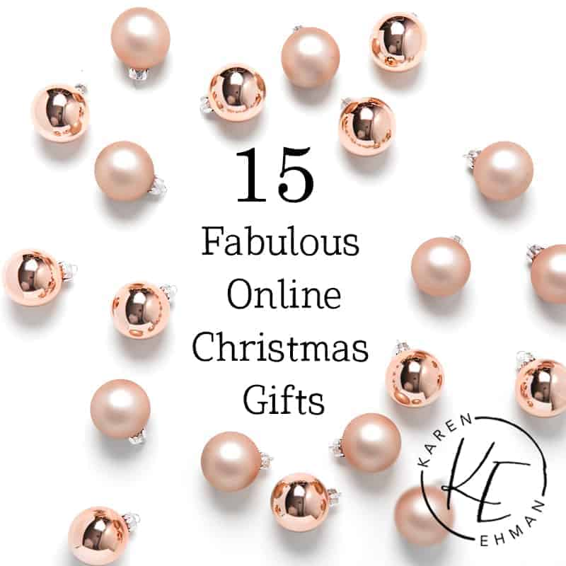 15 Fabulous Online Christmas Gifts at karenehman.com.