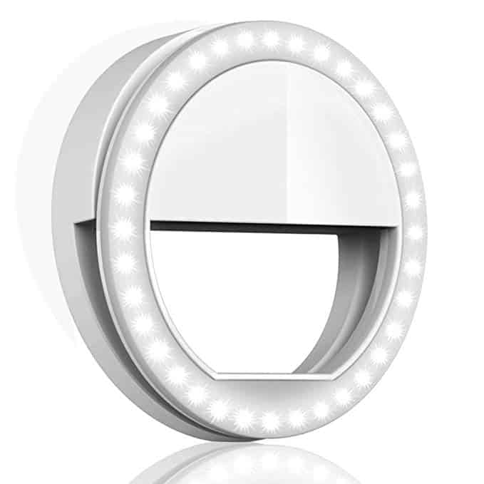 Clip on Selfie Ring Light for Phone // 15 Fabulous Online Christmas Gifts at karenehman.com.