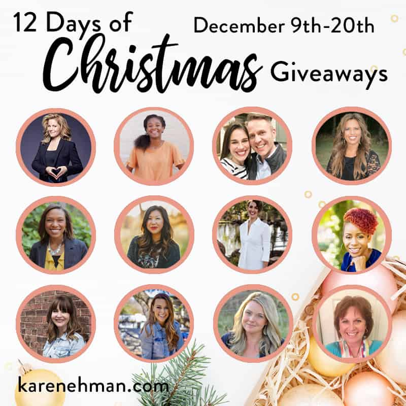 12 Days of Christmas Giveaways 2019 at karenehman.com.