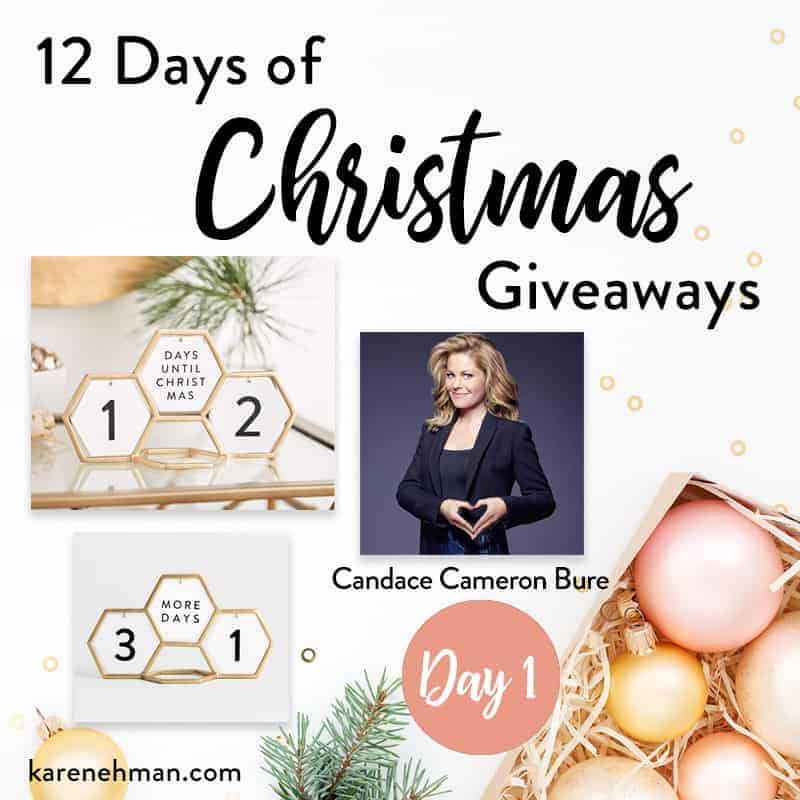 Candace Cameron Bure \\ Day 1 of 12 Days of Christmas Giveaways at karenehman.com.