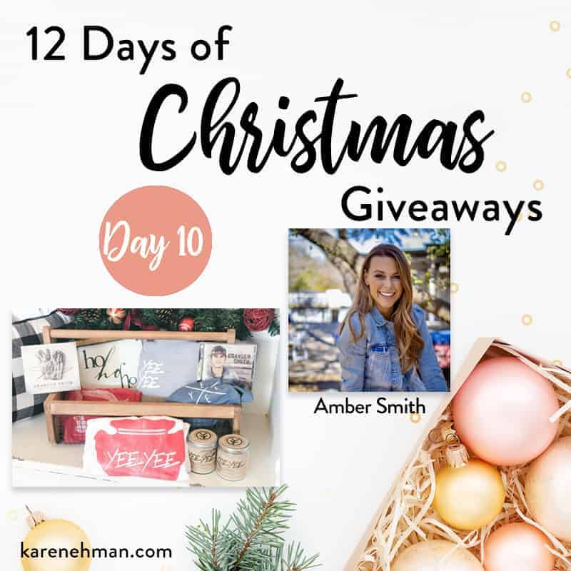 Amber Smith \\ Day 10 of 12 Days of Christmas Giveaways at karenehman.com.
