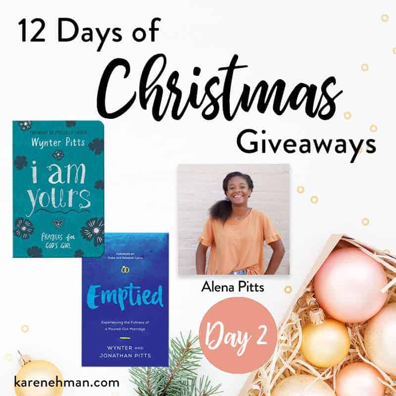 Alena Pitts \\ Day 2 of 12 Days of Christmas Giveaways at karenehman.com.