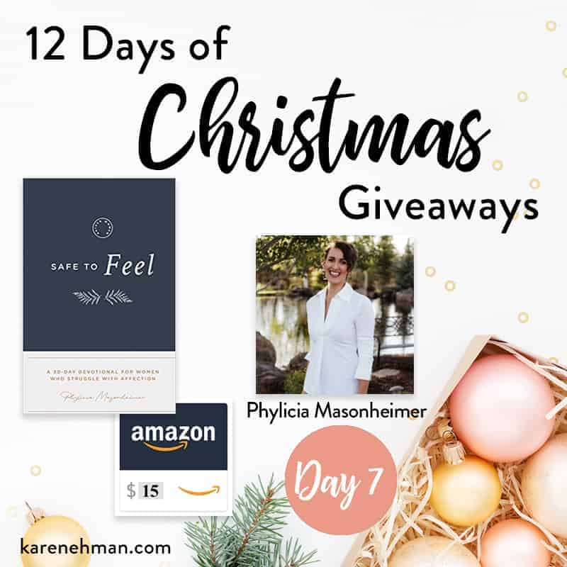 Phylicia Masonheimer \\ Day 7 of 12 Days of Christmas Giveaways at karenehman.com.