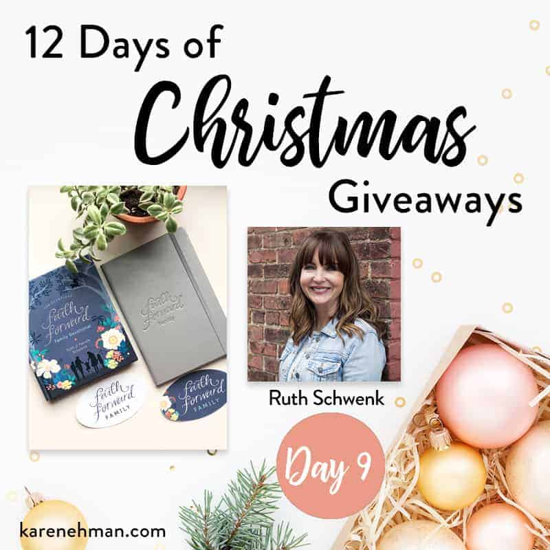 Ruth Schwenk \\ Day 9 of 12 Days of Christmas Giveaways at karenehman.com.